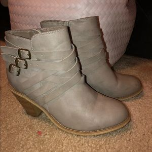 Womens Strappy Ankle Boots Size 9